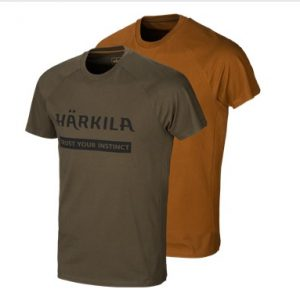 Härkila T-Shirt Logo 2-pack Willow Green/Rustique Clay