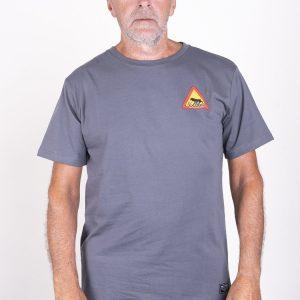 SQRTN Warning T-shirt Dark Grey UTFÖRSÄLJNING